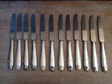Orfèvrerie Boulenger,12 couteaux à entremets,Art Déco,XX°.