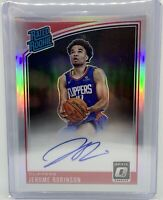 2018-19 Optic Jerome Robinson Rated Rookie RC Auto Silver Prizm Holo PSA 10? HOT