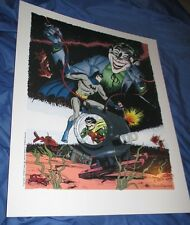 BATMAN/JOKER/ROBIN Art Print by Jerry Robinson LTD 1,000  ~RARE!