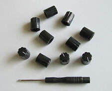"10x Guitar Amp Effect Pedal Knobs 1/4"" Davies 1900H Style Knob Set Screw Black"