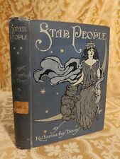 1910 Star People Katharine Fay Dewey Decorated Binding Antique Book Illustrated