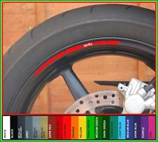 8 x APRILIA Wheel Rim Stickers Decals - 20 Colors - rs rsv rsv4 tuono shiver 125