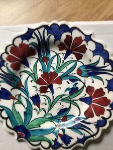 Small 18cm Handmade, Handpainted Turkish/Moroccan Wall Plate