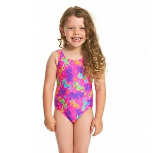 Zoggs Junior Sea Unicorn Pink Swimming Costume Age 3 - 6 Years