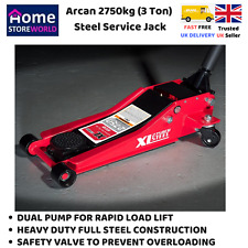 HEAVY DUTY FLOOR JACK 3 Ton Steel Car Vehicle Jack Trolley With Quick Lift NEW