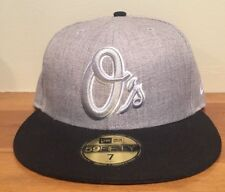 BALTIMORE ORIOLES NEW ERA 59Fifty Gray HAT CAP Size 7