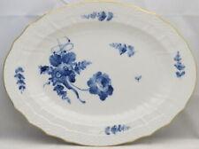 "Royal Copenhagen Blue Flowers (Curved, Gold) 12"" Oval Serving Platter"