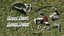 Speed Queen boat parts, speed odometer, gauges, bow light, cleats, logo, etc.