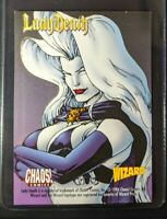 1996 Chaos! Comics / Wizard - LADY DEATH Comic PROMO CARD