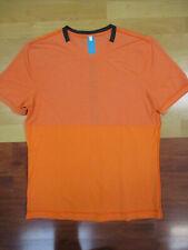 Lululemon Men's Orange Metal Vent Tech Crewneck Shirt - Large