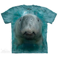 Big Face Manatee T-Shirt by The Mountain. Aquatic Sizes S-5XL NEW