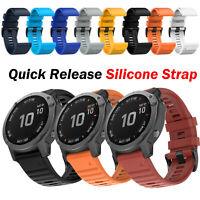Bracelet de montre en silicone à libération rapide22mm pour Garmin Fenix6 Fenix5