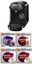 Bosch Tassimo T12 Vivy Coffee Machine Black + Cadbury Cappuccino Americano Latte