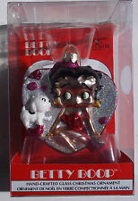 BETTTY BOOP BLOWN GLASS CHRISTMAS ORNAMENT. HANDCRAFTED NEW IN BOX. 2008
