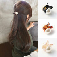 Korean Style Women Crystal Pearl Mini Hair Claw Clips Barrette Hair Accessories