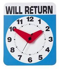 kikkerland WILL RETURN WALL CLOCK AA battery operated fun #1781