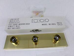 Trans Globe Lighting 3003-PB 3-Bulb Vanity Light Fixture