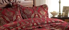 STUNNING GRAND MONTEZUMA RED GOLD TAPESTRY PILLOWSHAM 48CM X 74CM