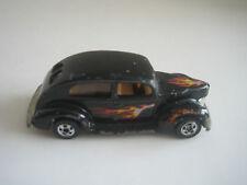 Vintage Hot Wheels '40 Ford 2-Door Black, Flame Tampo, Blackwalls
