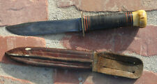 Rare VTG WW2 WWII Marble's Gladstone Fighting Survival Knife in Sheath