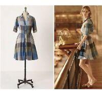 Moulinette Soeurs Reed Plaid Shirt Dress Anthropologie Womens Sz A2108