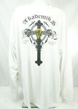Akademiks Long Sleeve T-Shirt Crew Neck White & Black Men's 5X