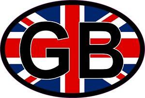 GB Oval Sticker With British Flag EU European Road Legal Vinyl Car Sticker Badge