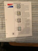 1986 US Postal Service Commemorative Stamp Club Collection album pages w/stamps