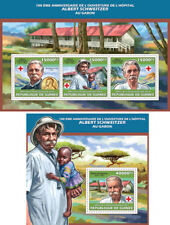 Albert Schwitzer Red Cross Medicine Guinea MNH stamp set