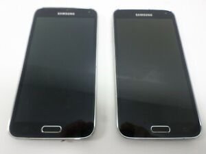 LOT of 2 Samsung Galaxy S5 32GB SMG900V Black Onyx *READ DESCRIPTION*