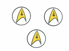 12 Pre Cut Edible Rice Wafer Paper Card Star Trek Cupcake Cake Party Toppers