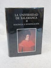 Manuel Alvarez LA UNIVERSIDAD DE SALAMANCA  Volume 2 HC/DJ  SPANISH LANGUAGE