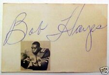 BOB HAYES AUTOGRAPHED INDEX CARD