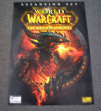 World of Warcraft: Cataclysm  Double Sided Poster     NEW    WOW Cata
