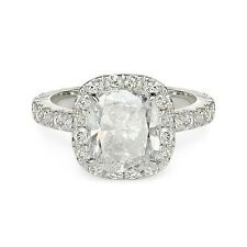 Cut Diamond Engagement Ring 14k 3.96 ct G Si1 Cushion