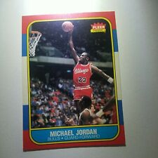 1986 Fleer Michael Jordan RC Rookie #57