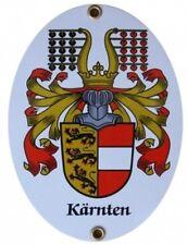 KÄRNTEN gr. Wappen Emaille Schild Email Gr. 11,5x15cm Fahne Österreich Austria