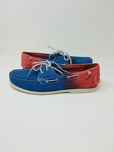 ✅Ralph Lauren Polo Newport Merton boat shoes Tye Dye Blue Red US Men's size 11✅