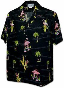 Flamigo in the Pond Men's Tropical Shirts
