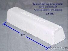 Buffing Polish Compound WHITE aluminum stainless chrome mirror finish jewelry