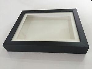 3D Deep Box Picture Frame Display Memory lego Medals Memorabilia Flowers Black