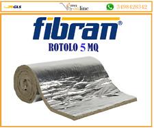 FIBRAN LANA DI ROCCIA 1x5 mt FELTRO SP. 3 LAMELLARE PER ISOLAMENTO CANNE FUMARIE