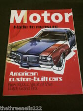 MOTOR MAGAZINE - AMERCIAN CUSTOM BUILT CARS - JUNE 29 1968
