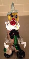 MID CENTURY 1950s MURANO  ART GLASS Clown HAND MADE ITALY  Venetian 9""