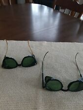Vintage Safety Welding Glasses Green Steampunk Rat Rod
