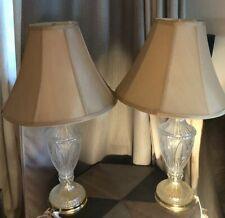 Vintage LOT OF 2 Crystal Char 24 % Lead Crystal Lamps