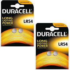 2 Packs durcell LR54 1.5 V Pile Alcaline 189 V10GA GP189 L1131 LR1130 A120 AG10