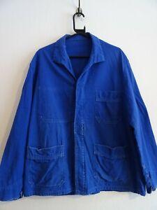 Vintage French faded hobo work chore workwear jacket