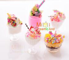 Lot of 5pcs Dollhouse Miniature Toy Food Icecream sundae w/plastic cup for Doll