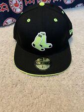 Boston Red Sox 59fifty 7 1/4  Black And Neon Hat Cap New Era NWT MLB Rare